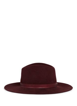 Figure View - Click To Enlarge - Janessa Leone - 'Lea' leather band wool felt hat