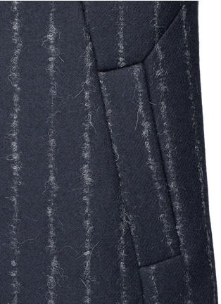 Detail View - Click To Enlarge - CÉDRIC CHARLIER - Pinstripe revers lapel long vest