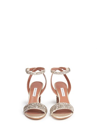 Front View - Click To Enlarge - TABITHA SIMMONS - 'Leticia' coarse glitter sandals