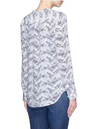 Back View - Click To Enlarge - Equipment - 'Lynn' tropical print silk shirt