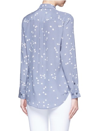 Back View - Click To Enlarge - Equipment - 'Slim Signature' star print silk shirt