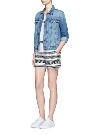 Figure View - Click To Enlarge - Lemlem - 'Freya' tibeb embroidery shorts