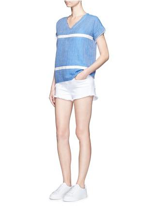 Figure View - Click To Enlarge - Lemlem - 'Nadia' stripe V-neck T-shirt