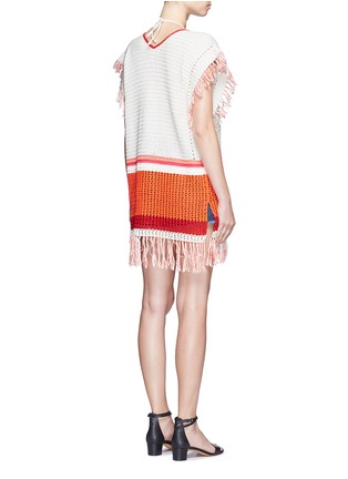 Back View - Click To Enlarge - LEMLEM - 'Kidan' stripe waffle knit cover-up