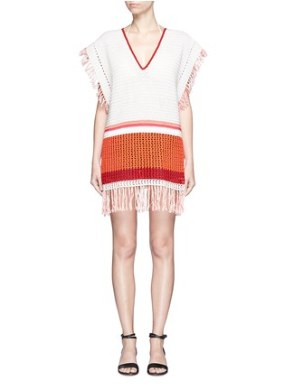 Main View - Click To Enlarge - LEMLEM - 'Kidan' stripe waffle knit cover-up