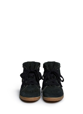 Figure View - Click To Enlarge - ISABEL MARANT ÉTOILE - 'Bobby' perforated suede concealed wedge sneakers