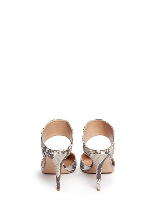 Back View - Click To Enlarge - Gianvito Rossi - Mirror leather python mules