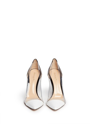 Figure View - Click To Enlarge - Gianvito Rossi - Clear PVC patent leather pumps
