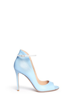 Main View - Click To Enlarge - Gianvito Rossi - Peep toe leather ankle strap pumps