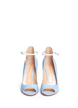 Figure View - Click To Enlarge - Gianvito Rossi - Peep toe leather ankle strap pumps