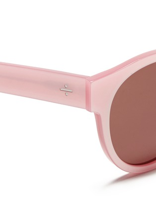 Detail View - Click To Enlarge - BLANC & ECLARE - 'Shanghai' pearlescent acetate round sunglasses