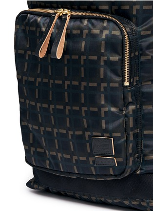 Detail View - Click To Enlarge - Marni - x PORTER check print techno fabric drawstring backpack