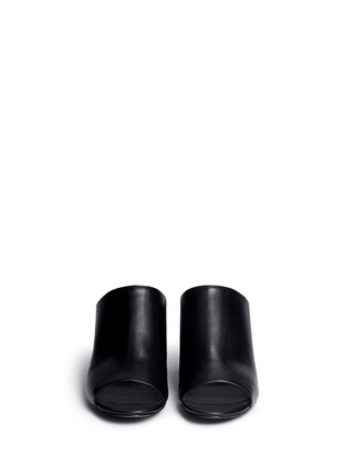 Front View - Click To Enlarge - 3.1 Phillip Lim - Open toe calfskin leather mules