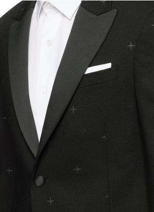 Detail View - Click To Enlarge - Neil Barrett - Rubberised star print tuxedo blazer