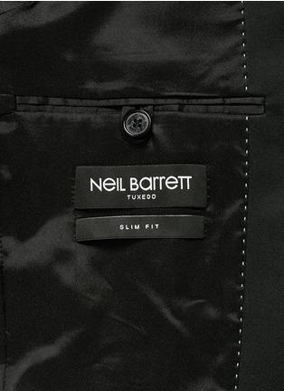 - Neil Barrett - Rubberised star print tuxedo blazer
