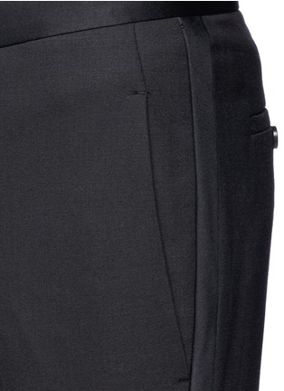 Detail View - Click To Enlarge - Neil Barrett - Satin tuxedo stripe skinny fit pants