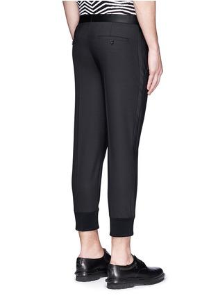 Back View - Click To Enlarge - Neil Barrett - Satin tuxedo stripe skinny fit pants