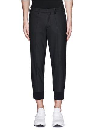 Main View - Click To Enlarge - Neil Barrett - Zip cuff virgin wool blend pants