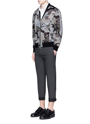 Figure View - Click To Enlarge - NEIL BARRETT - Stretch wool blend skinny fit pants