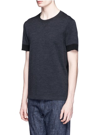 Front View - Click To Enlarge - Neil Barrett - Contrast cuff double face wool sweater