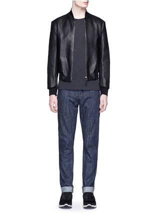 Figure View - Click To Enlarge - Neil Barrett - Contrast cuff double face wool sweater