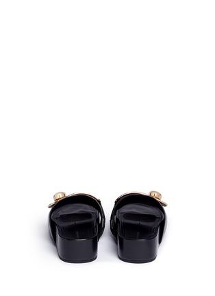 Back View - Click To Enlarge - Stella Luna - Turnlock buckle leather platform slide sandals