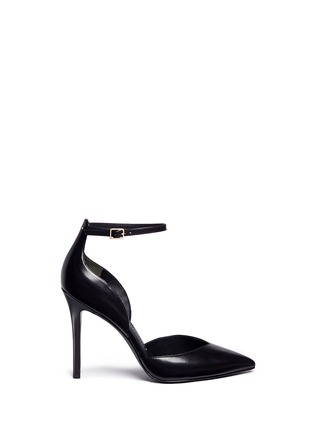 Main View - Click To Enlarge - Stella Luna - Ankle strap leather d'Orsay pumps