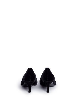 Back View - Click To Enlarge - Stella Luna - Faux pearl metal ring velvet pumps