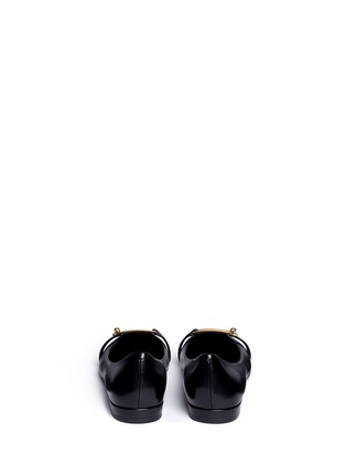 Back View - Click To Enlarge - Stella Luna - Turnlock bar leather flats