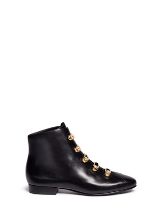 Main View - Click To Enlarge - Stella Luna - Turnlock buckle leather ankle boots