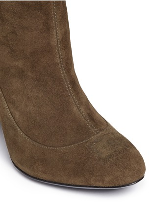 Detail View - Click To Enlarge - STELLA LUNA - Suede knee high boots