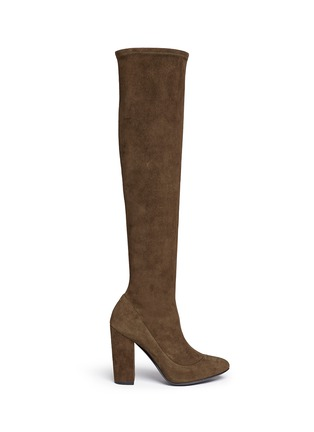 Main View - Click To Enlarge - Stella Luna - Suede knee high boots