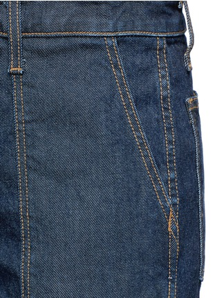 Detail View - Click To Enlarge - Current/Elliott - 'The Clean Flare' dark wash denim overalls