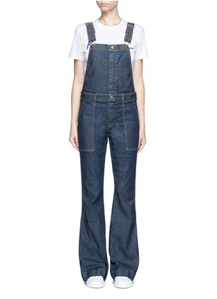 Main View - Click To Enlarge - Current/Elliott - 'The Clean Flare' dark wash denim overalls