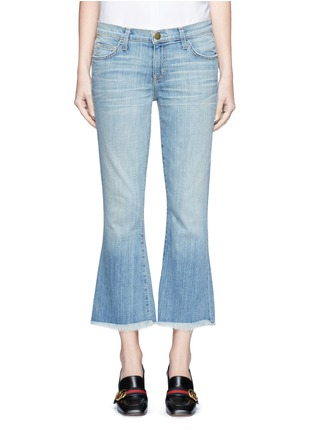 Detail View - Click To Enlarge - Current/Elliott - 'The Cropped Flip Flop' frayed flare jeans
