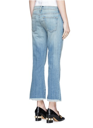 Back View - Click To Enlarge - Current/Elliott - 'The Cropped Flip Flop' frayed flare jeans