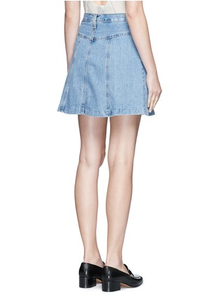 Back View - Click To Enlarge - CURRENT/ELLIOTT - 'The Skater' denim skirt