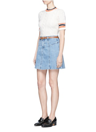 Figure View - Click To Enlarge - CURRENT/ELLIOTT - 'The Skater' denim skirt