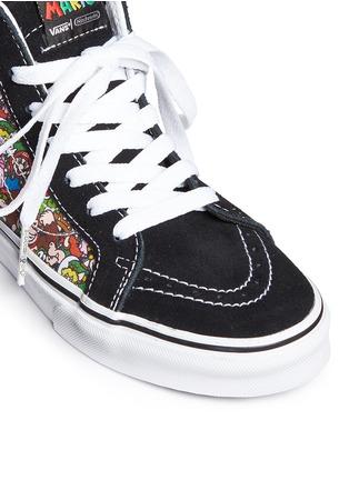 Detail View - Click To Enlarge - Vans - x Nintendo 'Sk8-Hi Zip' character print canvas kids sneakers