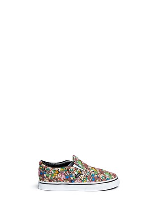 Main View - Click To Enlarge - Vans - x Nintendo 'Classic' character print canvas toddler slip-ons