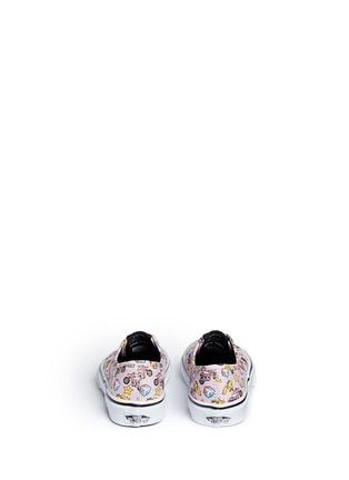 Back View - Click To Enlarge - Vans - x Nintendo 'Authentic' character print canvas kids sneakers