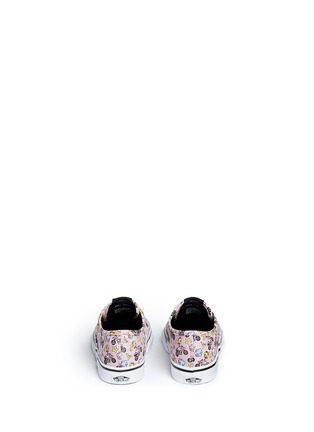 Back View - Click To Enlarge - Vans - x Nintendo 'Authentic' character print canvas toddler sneakers