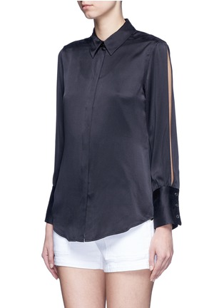 Front View - Click To Enlarge - Equipment - x Kate Moss 'Jonie' split sleeve silk georgette shirt