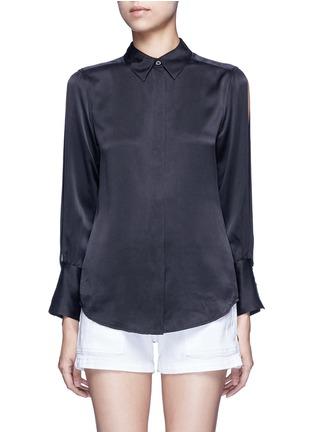 Main View - Click To Enlarge - Equipment - x Kate Moss 'Jonie' split sleeve silk georgette shirt