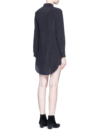 Back View - Click To Enlarge - Equipment - x Kate Moss 'Slim Signature' shirt dress