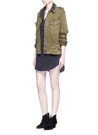 Figure View - Click To Enlarge - Equipment - x Kate Moss 'Slim Signature' shirt dress