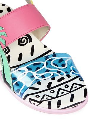 Detail View - Click To Enlarge - Sophia Webster - 'Becky' palm tree embellished leather toddler sandals