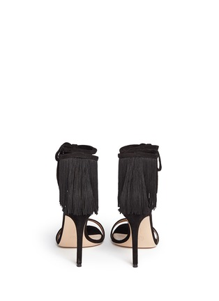 Back View - Click To Enlarge - Gianvito Rossi - 'Olivia' fringe cuff suede sandals