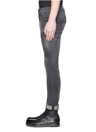 Detail View - Click To Enlarge - R13 - 'Skate' distressed skinny jeans