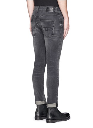 Back View - Click To Enlarge - R13 - 'Skate' distressed skinny jeans